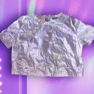 Holographic Rehab Crop Top